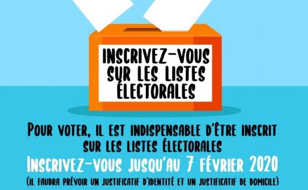 Inscription liste Électorales 2