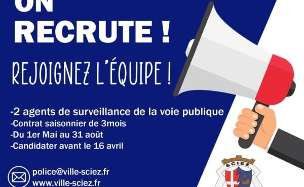 Sciez recrute 2 agents de surveillance de la voie publique 3
